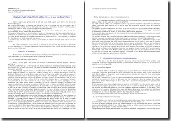 Commentaire groupé des article 212 à 226 du code civil