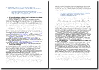 Du tribunal de Nuremberg aux tribunaux pénaux internationaux : une justice européenne constructive ?