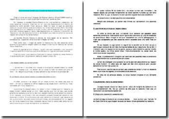 commentaire arrêt Cour d'appel de Paris le 30 avril 2009