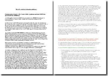 Commentaire d'arrêt : CE, 3 mars 2000, syndicat national CFDT des personnels des MIRECA:
