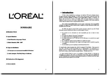 Dossier L'Oréal
