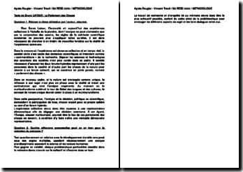 Commentaire de Texte de Bruno LATOUR : Le Parlement des Choses