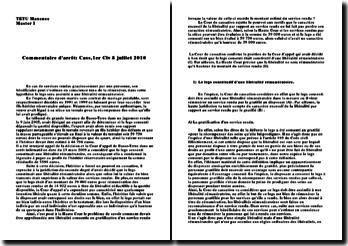 commentaire d'arrêt cass 1er civ 8 juillet 2000