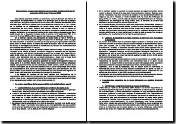 Commentaire comparé des décisions de deuxième chambre civile du 23 septembre 2004 et du 13 janvier 2005