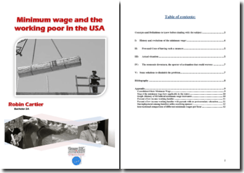 Minimum wage and the working poor in the USA
