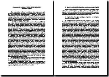 Commentaire de la décision n 2010-13 QPC du 9 juillet 2010 M. Orient O. et autres