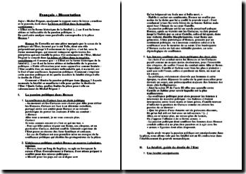 Horace - L'Etat, forme historique de la fatalité en tant que forme ultime et inéluctable de la passion politique