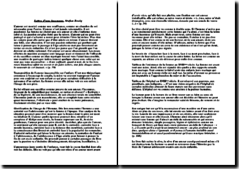 Fiche de lecture lettre d'une Inconnue Stefan Sweig