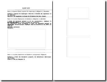 Exemple d' un sujet de type bac en Svt (Section scientifique)