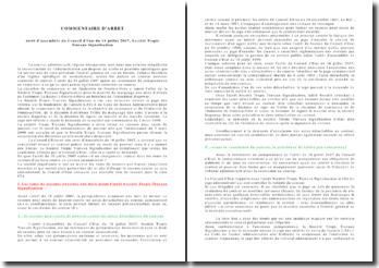 Commentaire d'arrêt, arrêt d'Assemblée du Conseil d'Etat du 16 juillet 2007, Société Tropic Travaux Signalisation