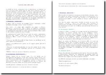 L'accord cadre 2001-2010 pour le développement touristique au Maroc