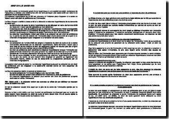 Arrêt civ3 27 janvier 1999