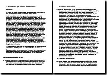 La décentralisation après la réforme de 2003 en France