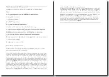 Commentaire d'arrêt de la cour de cassation du 22 octobre 2009