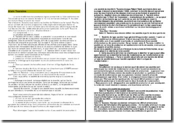 Passé et avenir du travail - Alain Touraine