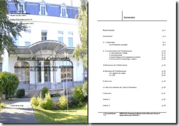 Rapport stage d'observation CPE dans un collège