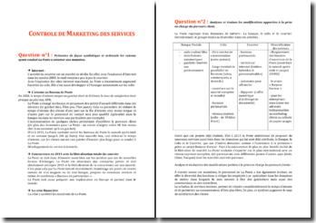 Marketing des services - La Poste
