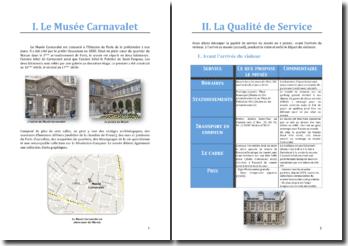 Étude de la qualité de service du Musée Carnavalet