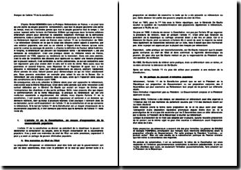 Analyse de l'article 11 de la constitution