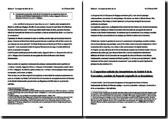 Commentaire groupé Laskey c/. RU et KA et AD c/. Belgique