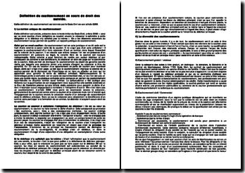 Définition du cautionnement en cours de droit des suretés.