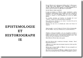 Epistémologie de l'Histoire