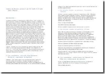 Analyse du discours prononcé par De Gaulle le 16 juin 1946 à Bayeux