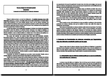 Dissertation L'extension de l'incrimination de violences volontaires