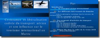 Croissance et libéralisation cadrée du transport aérien et son influence sur le tourisme international au Maroc