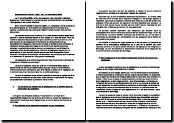 Commentaire d'arrêt Cassation 19 NOVEMBRE 2009