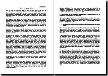 3ème chambre civile, 7 janvier 1987 : Contournement de la prohibition de l'hypothèque sur biens futurs et validité de la promesse d'hypothèque