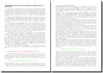 Commentaire de l'arrêt de la Cour de Cassation, Chambre civile 1,12 juillet 1989