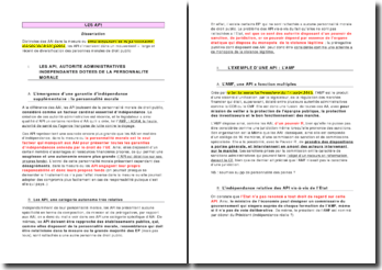 dissertation: les API