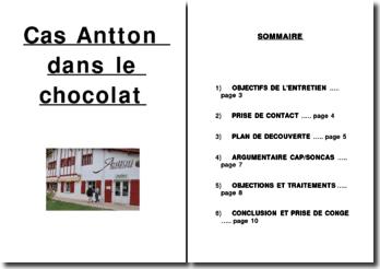 Cas Antton dans le chocolat