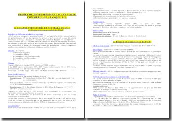 Projet de Développement d'une Unité Commerciale Exemple avec Le LCL