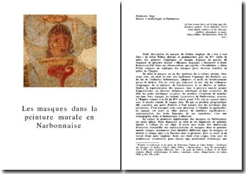 Les masques dans la peinture murale en Narbonnaise