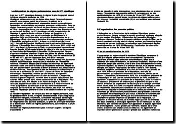La déformation du régime parementaire (dissertation)