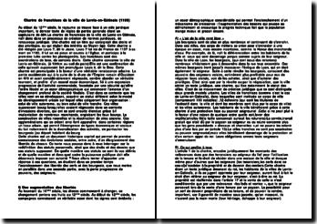 Chartre de franchises de la ville de Lorris-en-Gâtinais (1155) commentaire