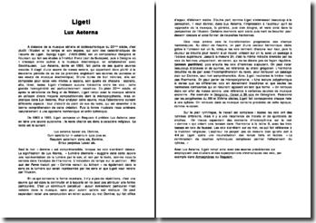 Gyogy Ligeti: Lux Aeterna