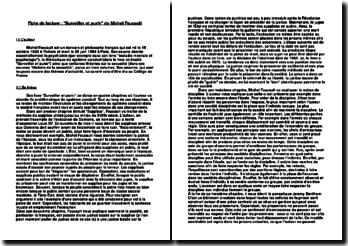 Fiche de lecture Surveiller et punir de Michel Foucault