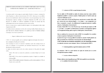 APPLICATION PRATIQUE - MISSION D'ASSISTANCE FISCALE DE L'EXPERT-COMPTABLE DANS UNE ECOLE SUPERIEURE DE COMMERCE (ESC) - LE REGIME DU MECENAT