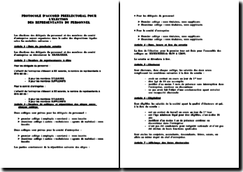 Modèle de protocole préélectoral