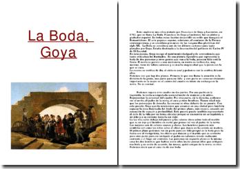 La Boda. Francisco de Goya
