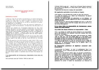 Commentaire de l'arrêt du 14 Mai 1991