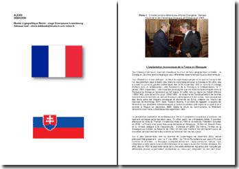 L'implantation économique de la France sur le territoire slovaque.