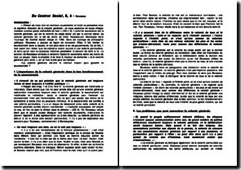 Du Contrat Social, II, 3 - Rousseau