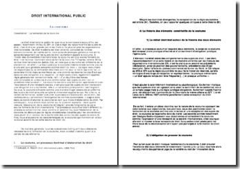 La coutume en droit international public 2011