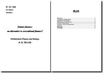 Islamic finance an alternative to conventional finance