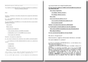 La compétence internationale des juridictions françaises (la compétence directe ou l'instance directe)