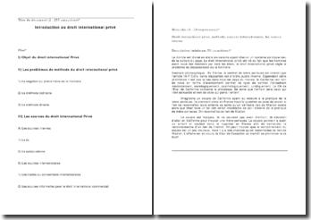 Introduction au droit international privé